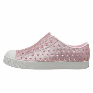 Native Jefferson Milk Pink Shell White Bling Shoes